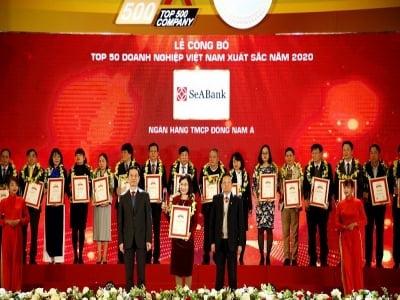 SeABank được xếp hạng Top 50 doanh nghiệp tư nhân lớn nhất Việt Nam năm 2020