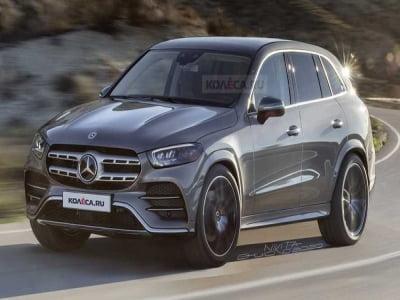 Mercedes GLC 2022 lộ hình ảnh đầu tiên.