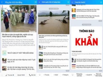 Cách nhận cảnh báo mưa lũ ở miền Trung bằng Zalo