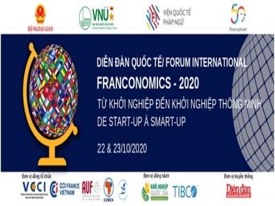"""Diễn đàn quốc tế Franconomics - 2020 """"Từ khởi nghiệp tới khởi nghiệp thông minh"""""""